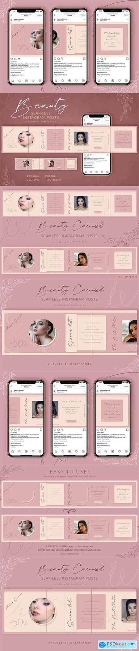 Beauty Instagram Carousel Posts
