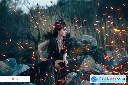 Fire Sparks Overlays Photoshop 4936513