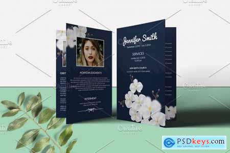 Funeral Program Template - V954 4341550