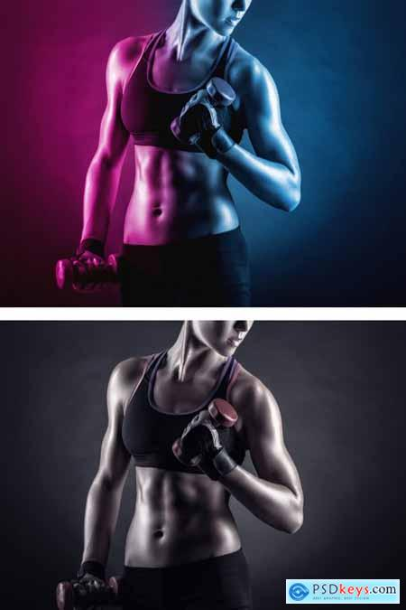 Dual Lighting Photo Effect Template 349052482