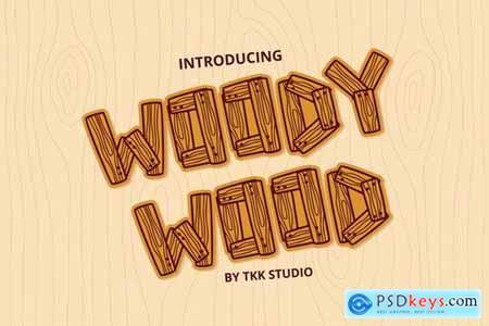 Woody Wood - Wood Plank font