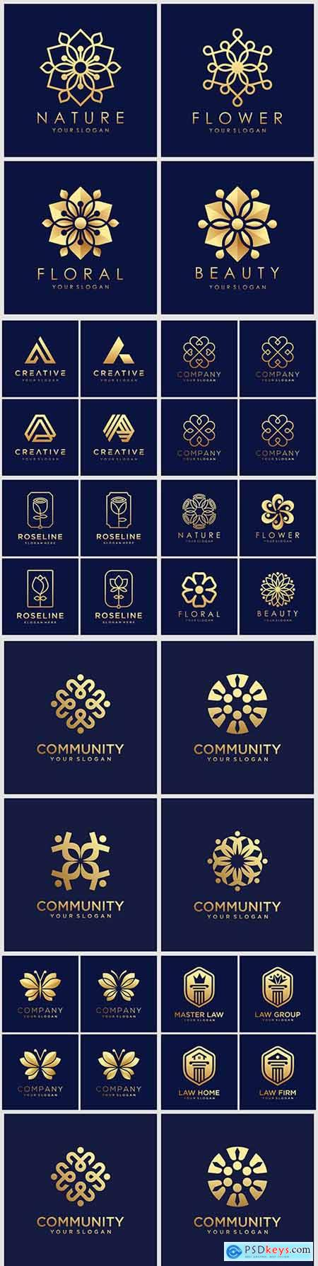 Creative company logos business corporate design 78