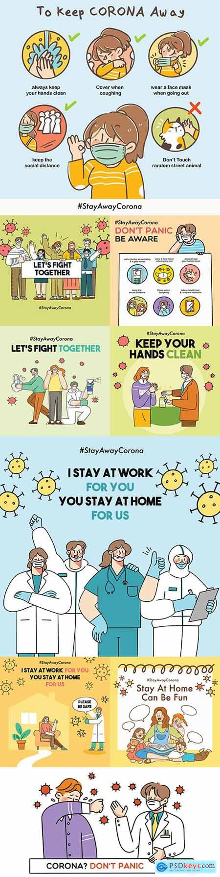 Stay home for safety and let s fight coronavirus together