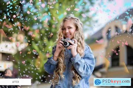 Confetti Overlays Photoshop 4935477