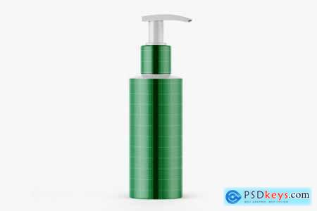 Plastic Bottle with Pump Mockup 4021662