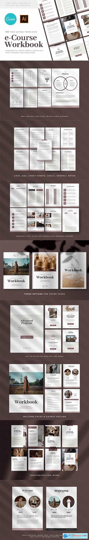 CANVA eCourse & Webinar Workbook Templates