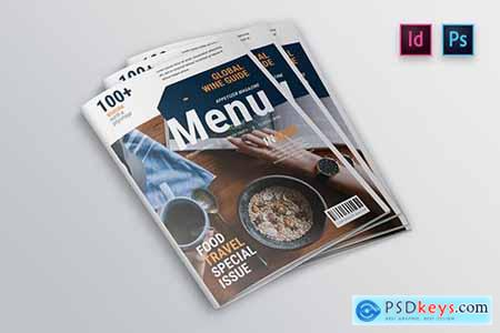 Appetizer Magazine Cover Indesign Template