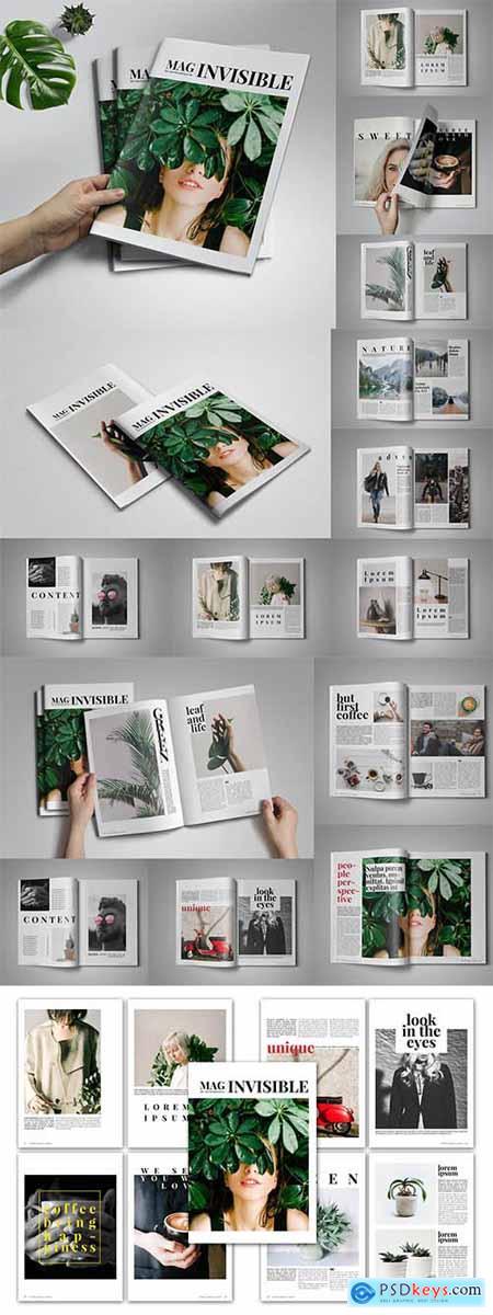 Invisible Magazine Template