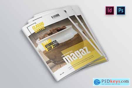 Coffee Magazine Cover Template