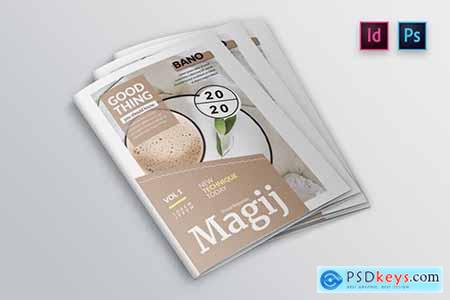 Floral Magazine Cover Template