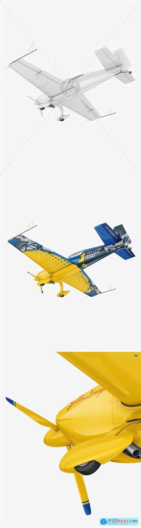 Sport Airplane Mockup - Half Side View (Bottom) 56195