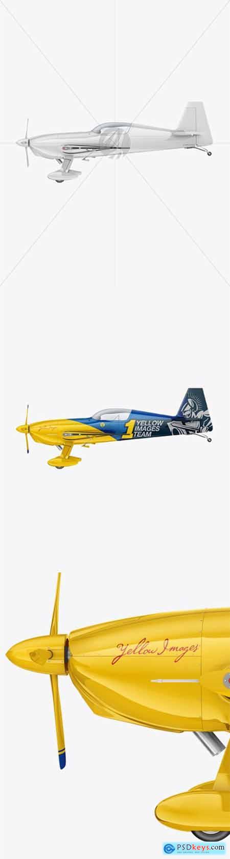 Sport Airplane Mockup - Side View 55702