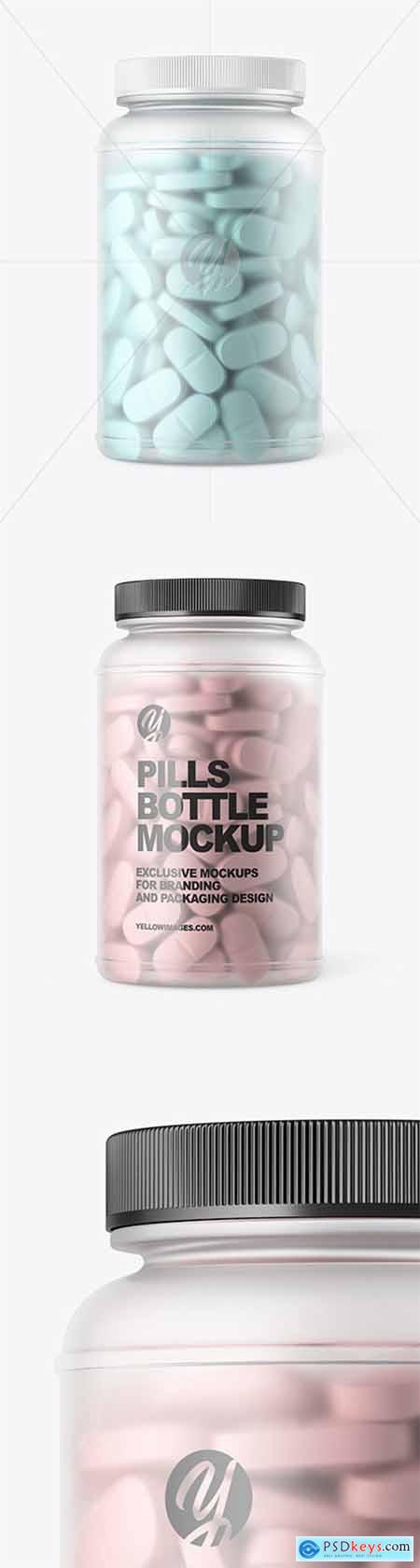 Frosted Pills Bottle Mockup 60399