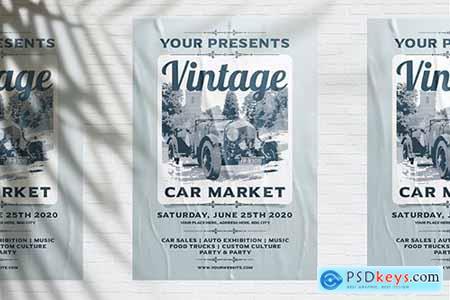 Vintage Car Market Flyer