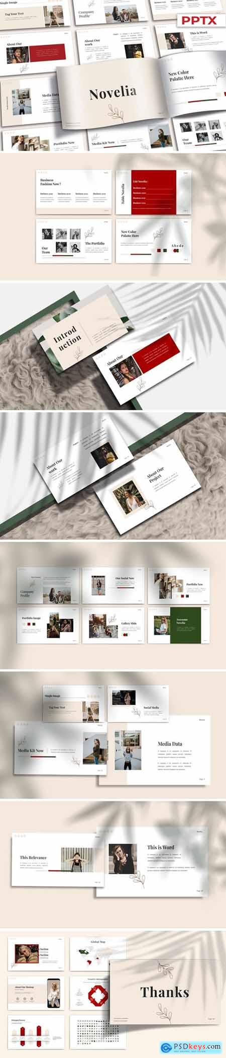 NOVELIA Powerpoint, Keynote and Google Slides Templates