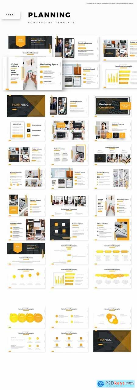 Planning Powerpoint, Keynote and Google Slides Templates