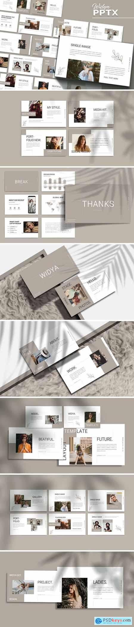 WIDYA - Fashion Powerpoint, Keynote and Google Slides Templates