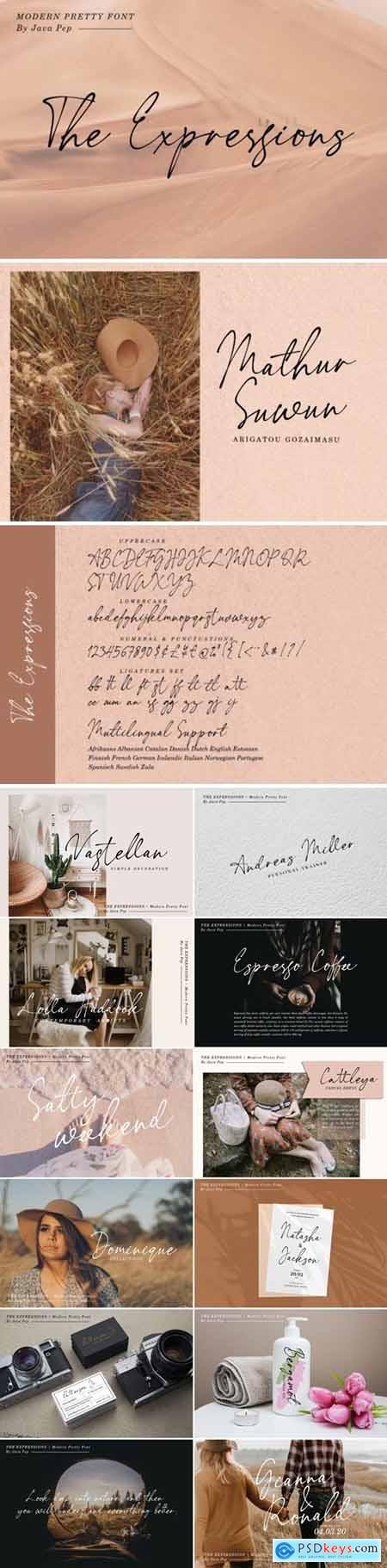 The Expressions - modern pretty font 4595230