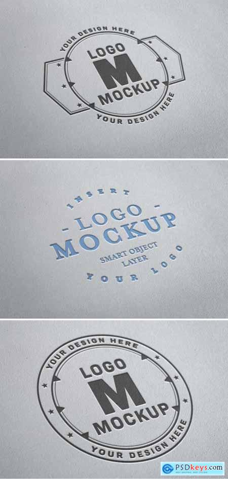 Paper Pressed Logo Mockup 315396615