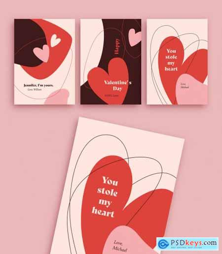 Valentines Day Card Layout Set 315417760