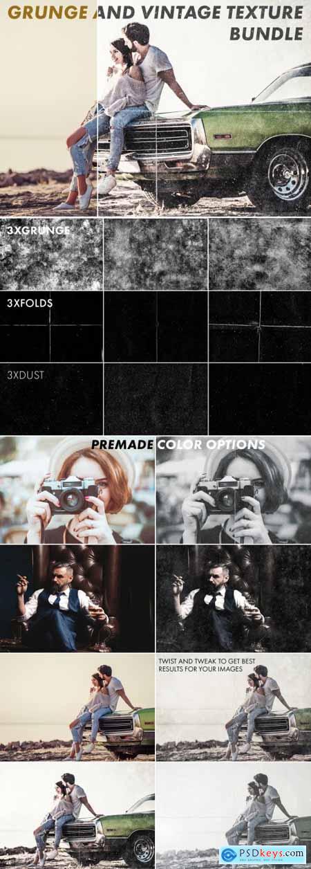Grunge Texture Overlay Mockup Set 315695505