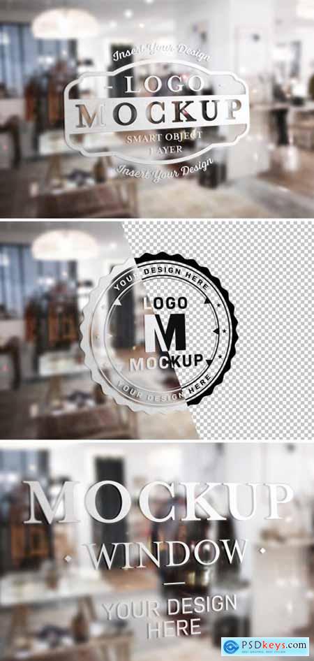 Window Signage Text Effect Mockup 315395632