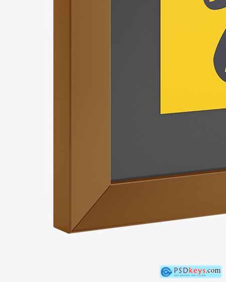 Poster Frame Mockup - Half Side View 53580