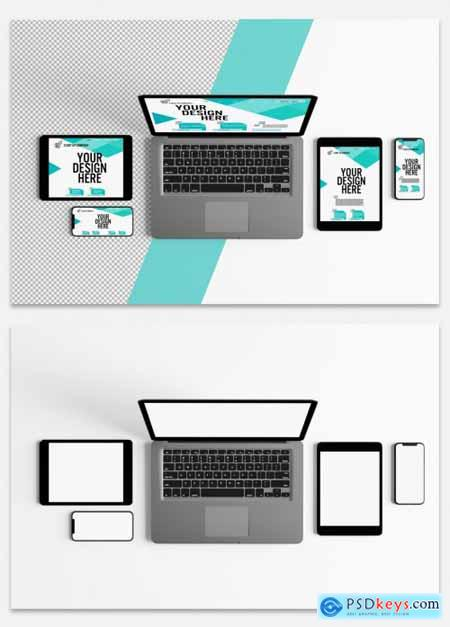 Various Digital Devices Mockup 315689928