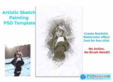 Artistic Sketch Painting Template 4570575