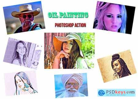 Oil Painting Photoshop Action 4559922