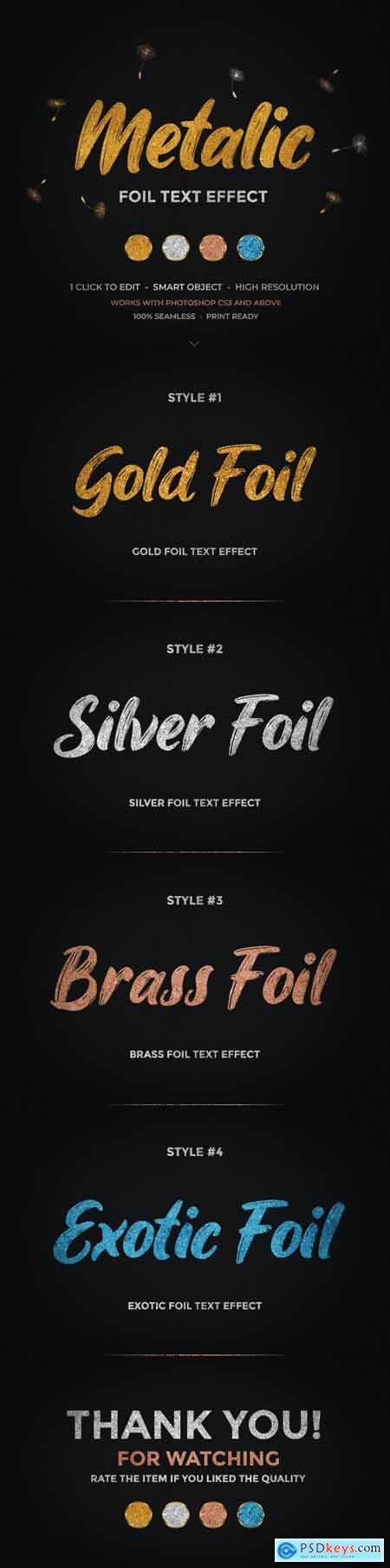Metallic Foil Text Effect 26473998