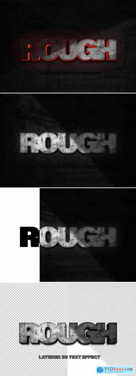 Rough Rock Text Effect Mockup 350261035