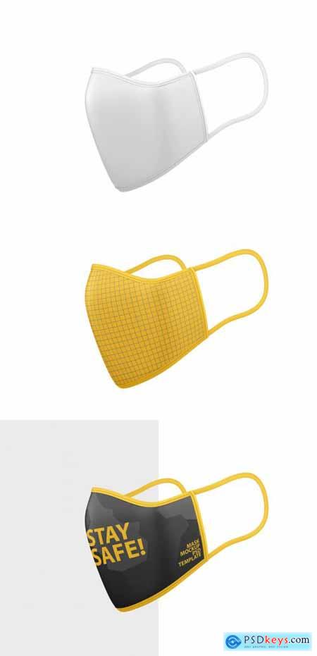 Face Mask Mockup Side View 350251326