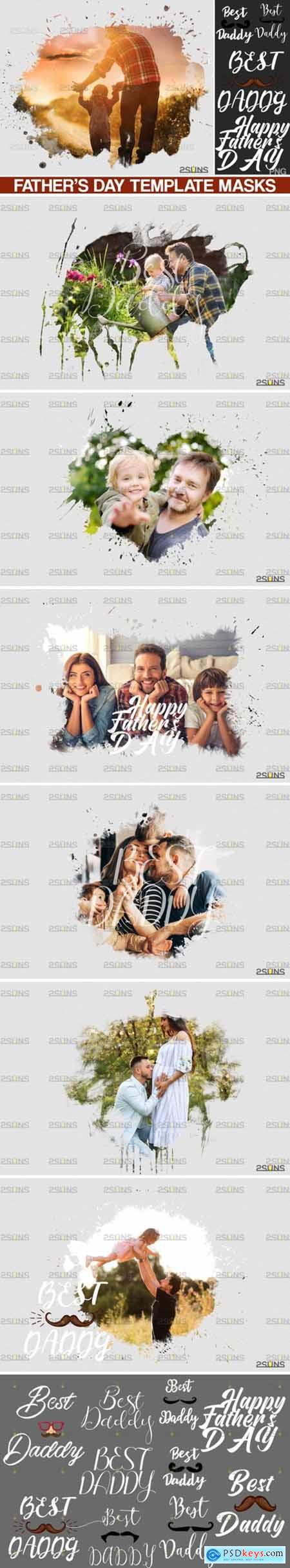 Fathers Day Watercolor Template 4145127