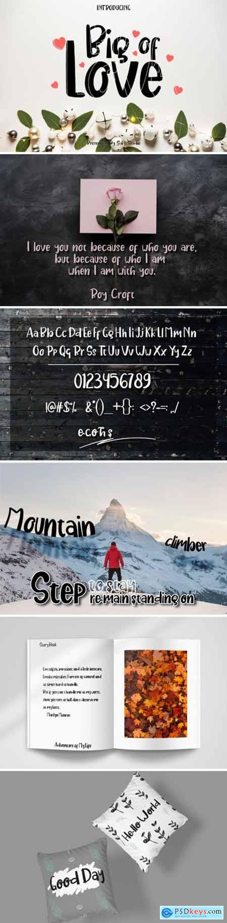 Big of Love Font