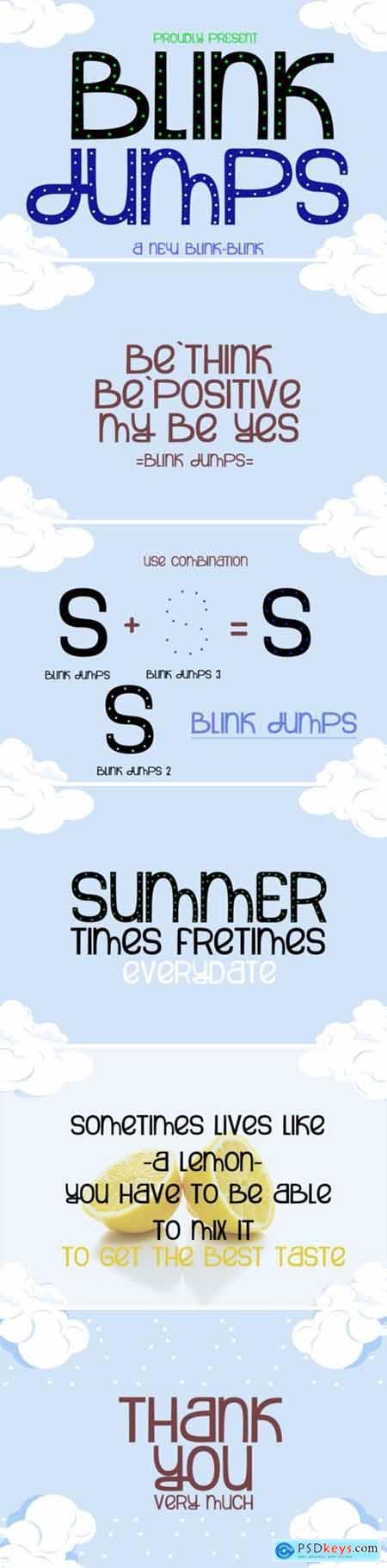 Blink Jumps Font