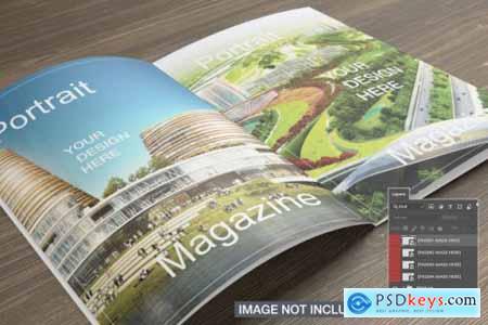 Opened magazines mockup