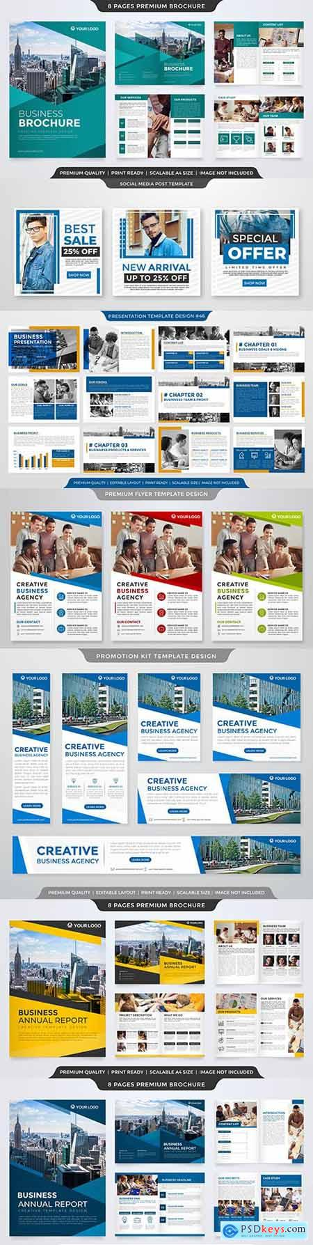 Minimalist business presentation layout template