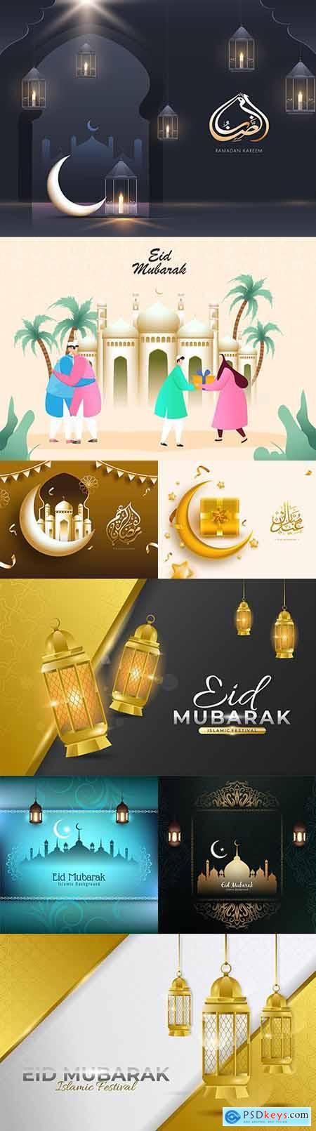 Ramadan Kareem and Eid Mubarak background Islamic 5