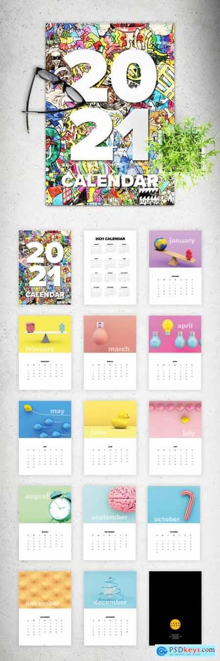 2021 Wall Calendar Layout 350983538