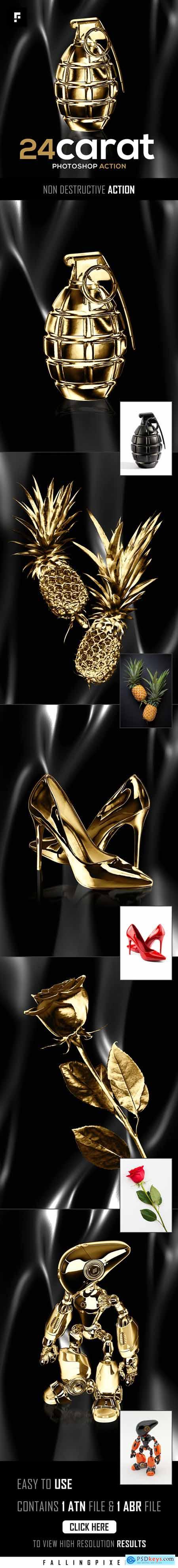 24 Carat Photoshop Action 26536703