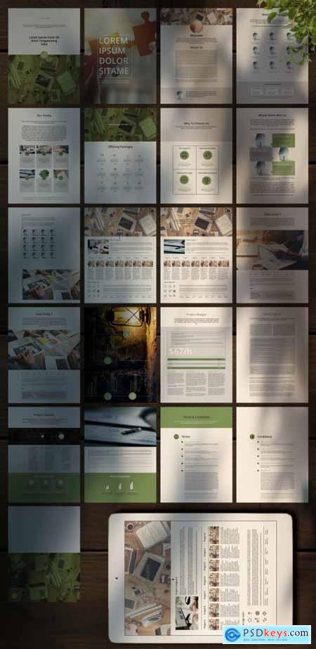 Clean Proposal Ebook Layouts 350935671