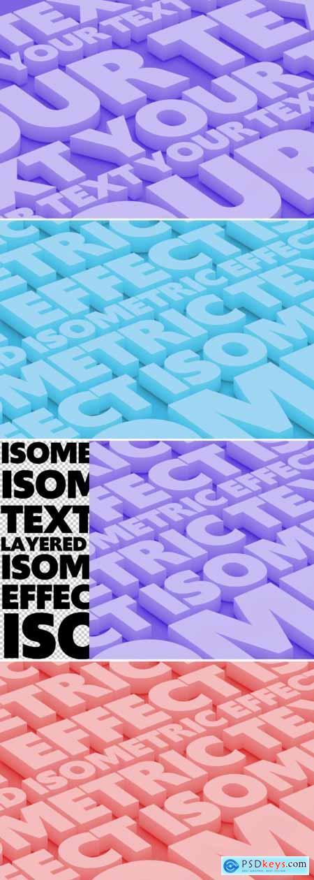 Isometric Deep Text Effect Mockup 350979950
