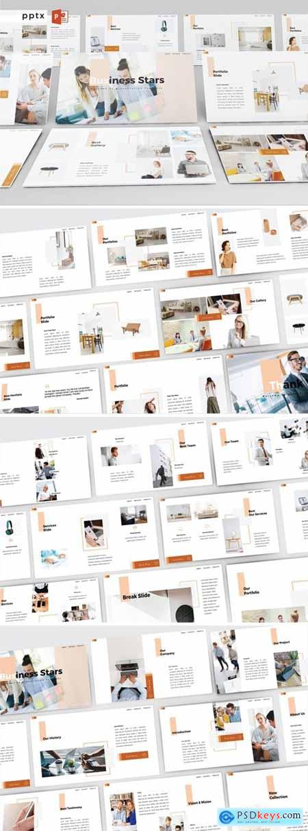 BUSINESS STARS Powerpoint, Keynote and Google Slides Templates