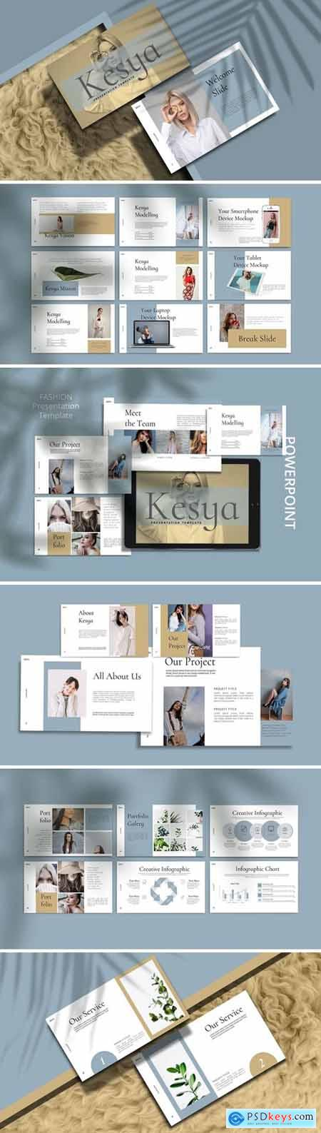 KESYA- Fashion Powerpoint, Keynote and Google Slides Templates