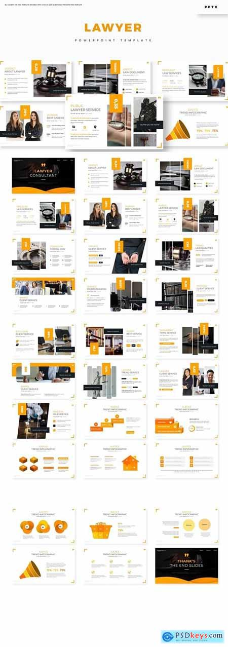 Lawyer Powerpoint, Keynote and Google Slides Templates