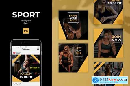Sport Instagram Feed Post Template