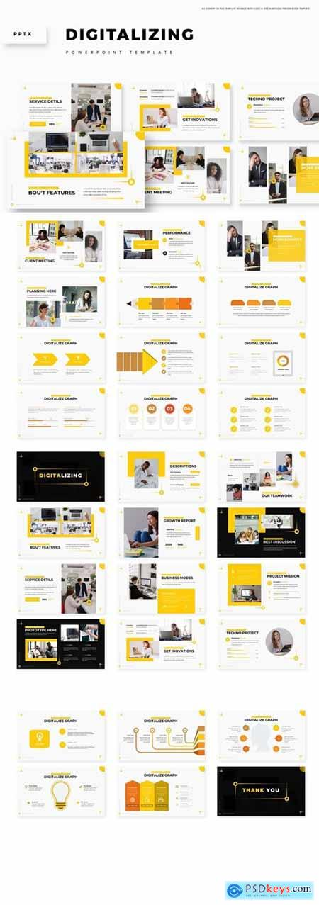 Digitalizing Powerpoint, Keynote and Google Slides Templates