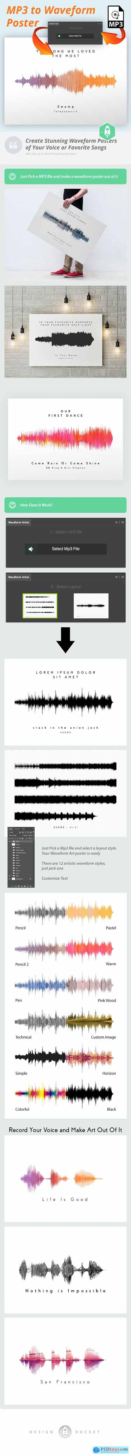 Waveform Artist - MP3 to Waveform Poster 20644757