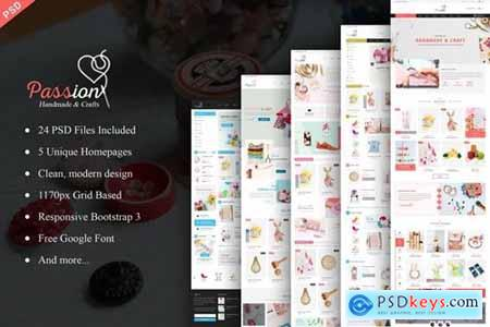 Passion - Handmade & Craft eCommerce PSD Template